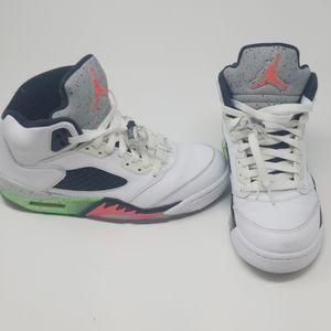 Air Jordan Retro 5 (White/Infrared/Lime)
